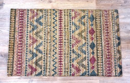 Timbergirl Braided Plum 100% Jute Handmade Rug