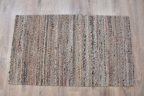 Timbergirl Jacquard Grey Jute Handmade Rug