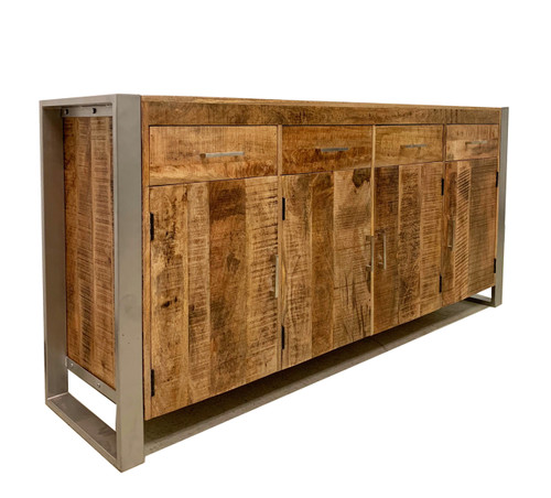 Timbergirl Reclaimed wood Sideboard with Silver Legs