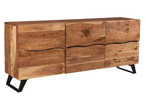 Timbergirl Acacia Wood 3 Door Liveedge Cabinet