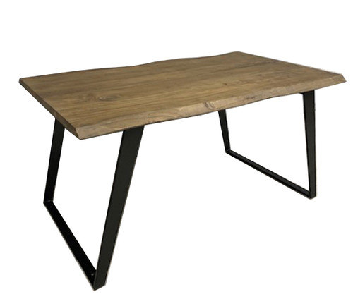Timbergirl Acacia Live Edge Dining Table Black Legs