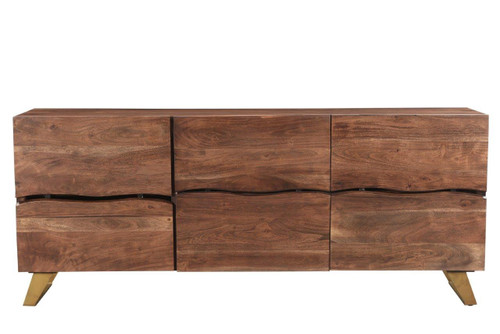Timbergirl Seesham Live Edge Sideboard with Gold Legs