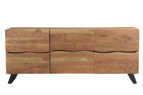 Timbergirl Light Acacia Live Edge Sideboard with Black Legs