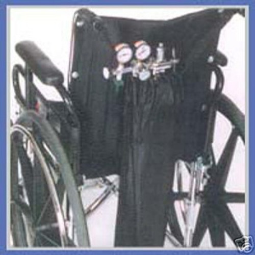Single oxygen tank carrier for wheelchairs Diestco B6-11