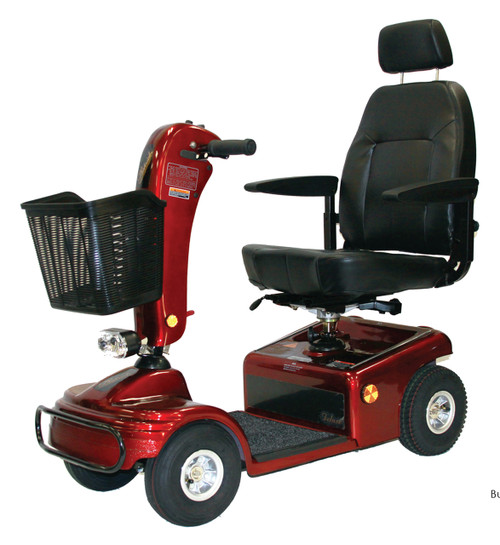 Burgundy Shoprider Sunrunner 4 Wheel Scooter 888B-4