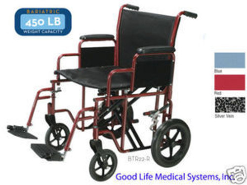 BTR20 - BARIATRIC STEEL TRANSPORT CHAIR