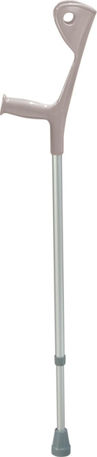 Silver color adult size Euro Style pair of Crutches