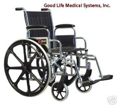 """3E010110 Graham Field Traveler SE Wheelchair with Fixed Full Arms, Elevating Legrest and 18"""""""