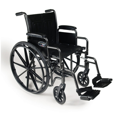 "Wheelchair Detachable Full Arm Swingaway Footrest 16"" (3E010240 - Traveler SE 16)"