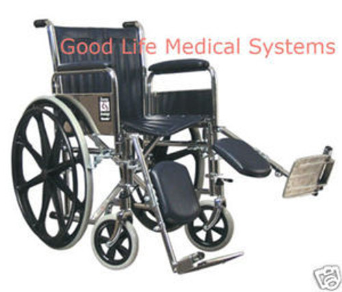 GF 3E010150 Traveler SE Wheelchair Detachable Full Arms Elevating Legrest by Graham Field