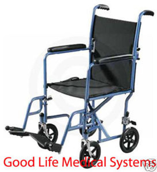 "Drive Steel Transport Chair with 17"" Wide Seat"