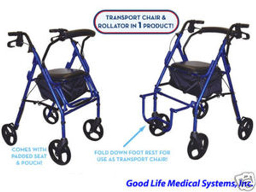 Drive Duet Transport Chair/Rollator 2 in 1