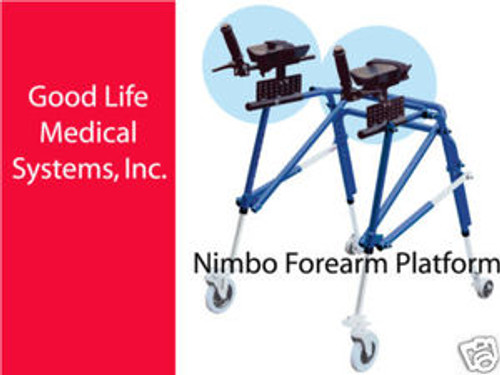 Supplementary Part:  Nimbo Forearm Platform & Mounting Brackets, Size Large