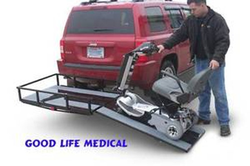 TrekAway Hitch Mounted Carrier w/ Ramp.  Available with or without Tiedowns