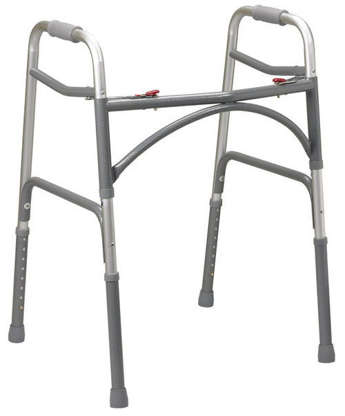 Bariatric Aluminum Walker with Wider and Deeper Frame