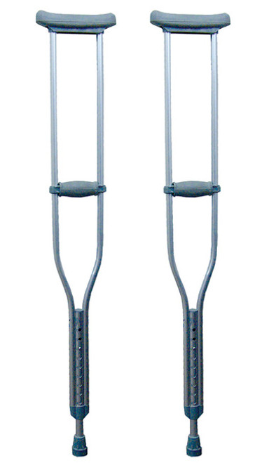 Aluminum Crutches, Complete, For Children or Shorter Individuals