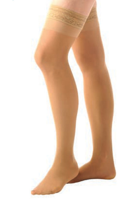 Women's Sheer Thigh High, Closed Toe, 8 to 15 mmHg, Mild Compression