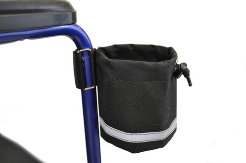 Unbreakable Cupholder or Bottle Carrier, Walker or Wheelchair, Vertical Grip Mount