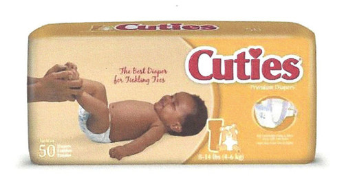 Cuties Disposable Diapers, size 1