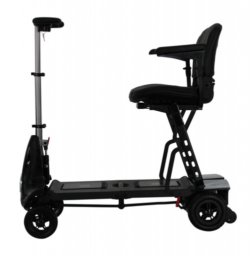 Black Mobie Mobility Scooter in profile
