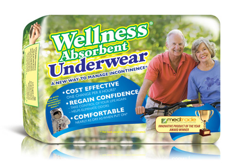 "Case of 64 Wellness Pull-On Underwear, Size Large (Waist 30"" to 40"")"