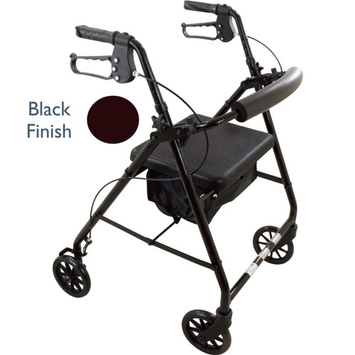 Black Roscoe Medical E Series Rollator 30167