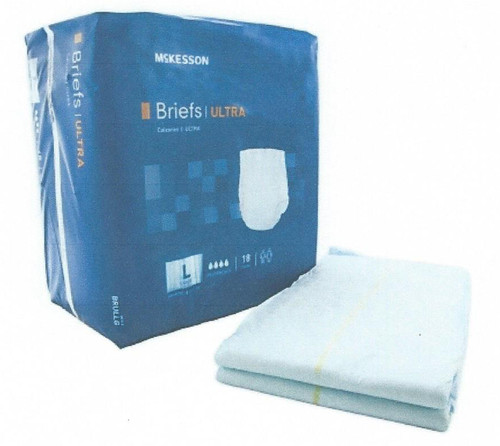 McKesson Ultra Absorbent Adult Disposable Briefs, sizes m, l, xl