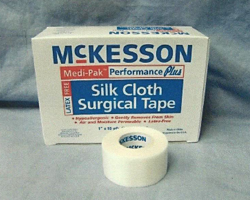 McKesson Medi-Pak Performance Plus Silk Cloth Surgical Tape,Box of 12