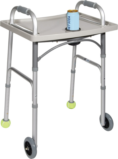 Drive Universal Walker Tray with Cupholder 10124 on walker