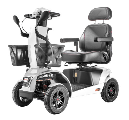 FreeRider FR1 4 wheel scooter with two baskets