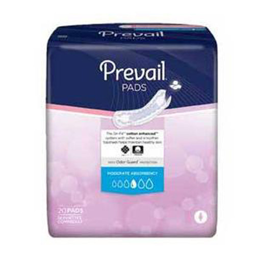 Prevail® Bladder Control Moderate Pad  Bag of 20