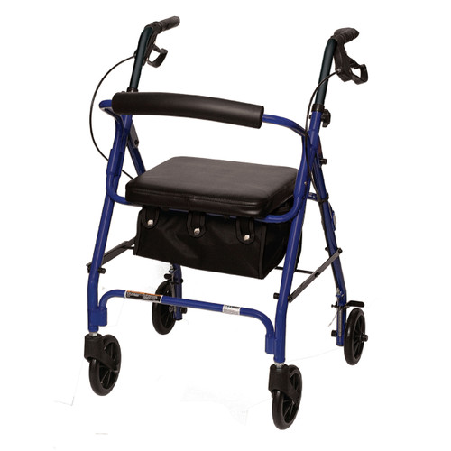 Rollator RLAB8 comes in blue or Burgundy