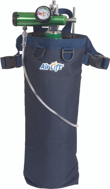 Airlift 44N Wheelchair Oxygen Tank Carrier for D and E size tanks, Front view
