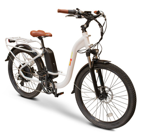 EW-Step Thru Low-Step Frame E-Bike, White
