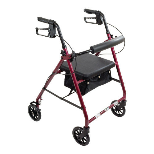 RLA6 Rollator Walker in Burgundy