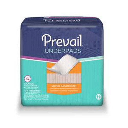 "Prevail® Night Time Disposable Underpads 30""x 30""  FQUP100"