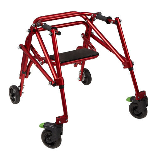 Klip 4 wheel posterior walker with seat, KP520R