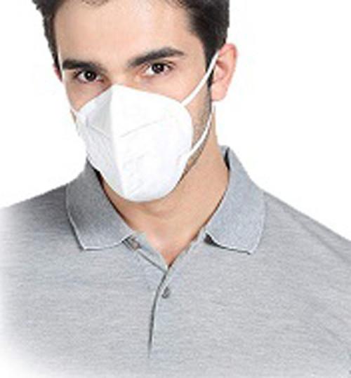 KN-95 Face Mask on Man