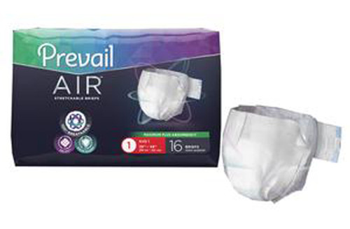 Prevail Air Stretchable Incontinence Adult Briefs, size 1