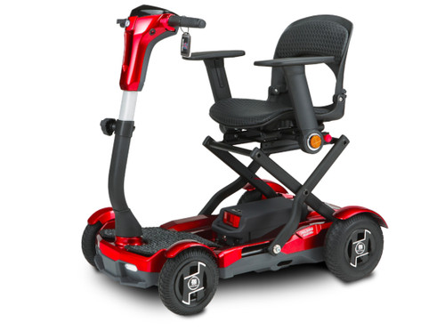 Red TEQNO folding scooter