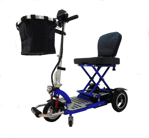 Blue Triaxe Cruze heavy duty scooter