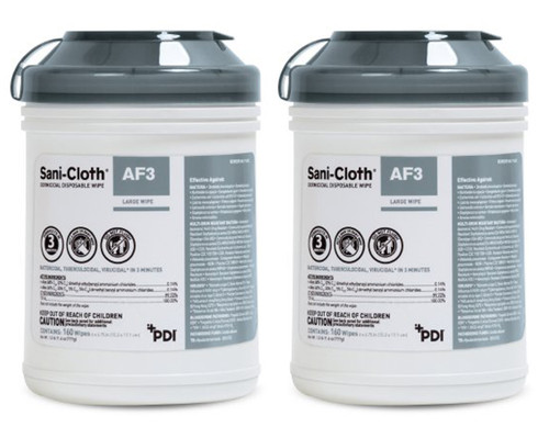 2 Canisters of Sani-Cloth Surface Disinfectant Cleaner Germicidal Wipes