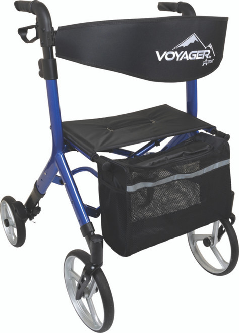 Compass Health Voyager Blue Euro Style Rollator Walker