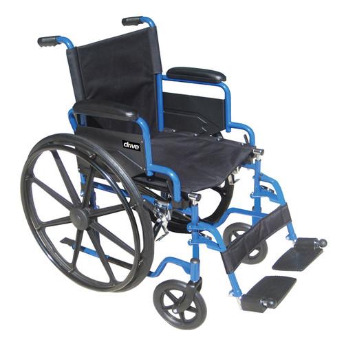 "Blue Streak BLS20FBDSF Drive Wheelchair 20"" seat"