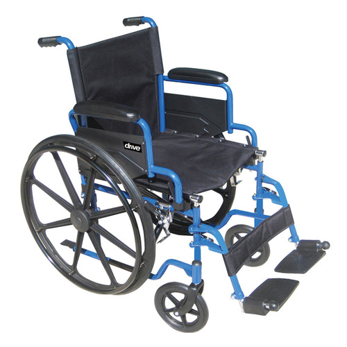 "Blue Streak BLS18FBDSF Drive Wheelchair 18"" seat BLS16FBDSF with 16"" seat"