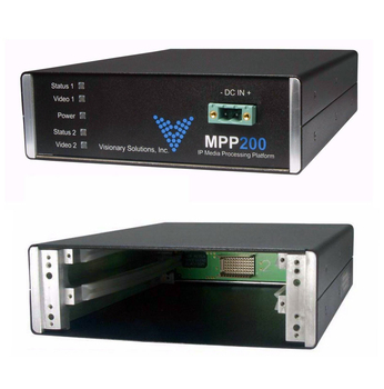 mpp200 2 channel media processing platform blade chassis for iptv