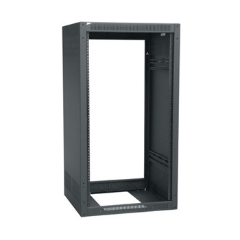 18 Space (31-1/2) 19-1/2 Deep Stand Alone Rack Less Rear Door Black Finish
