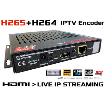 VeCASTER HDMI to HEVC & H264 Multi-Rate RTMP Streaming Encoder