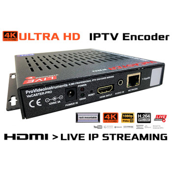 VeCASTER 4K HDMI to H264 Multirate IPTV Encoder