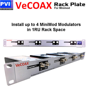 RackPlate to install 4 MiniMOD in 1RU